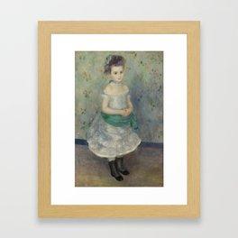Portrait of Jeanne Durand-Ruel Framed Art Print