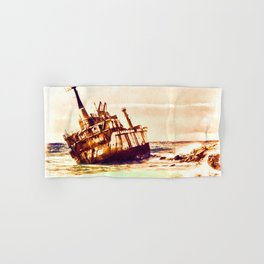 shipwreck aqrels Hand & Bath Towel