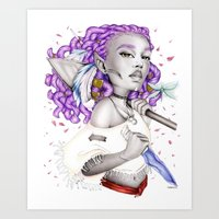 Art Print featuring Niobe by Fatimabart