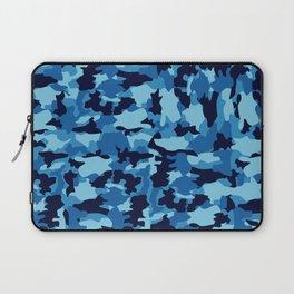 Blue Background Pattern Camo Laptop Sleeve