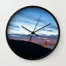 A City Awakens Wall Clock