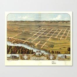 Bird's eye view of New Ulm, Brown County, Minnesota (1870) Canvas Print