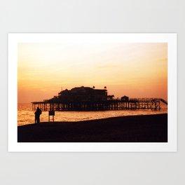 West Pier, Brighton, UK Art Print
