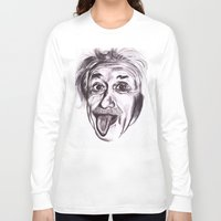 einstein Long Sleeve T-shirts featuring Einstein by Alicia Evans