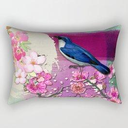 Meeting in the Garden Rectangular Pillow