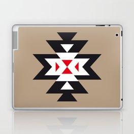Navajo Aztec Pattern Black White Red on Light Brown Laptop & iPad Skin