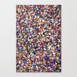 Colorful Rainbow Glittering Confetti Canvas Print
