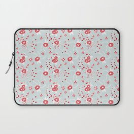 Holiday Floral Blue Red #holiday #Christmas Laptop Sleeve