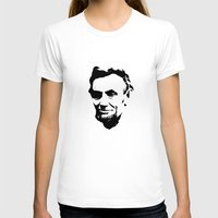 lincoln T-shirts featuring Lincoln by Charles Emlen