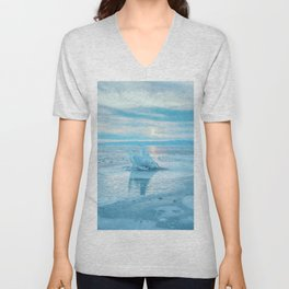 The Strange Ice Circle of Baikal Unisex V-Neck