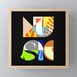 Music Typography Framed Mini Art Print
