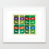 tmnt Framed Art Prints featuring TMNT by Szoki