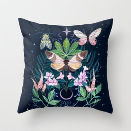 Cicada Moon Throw Pillow