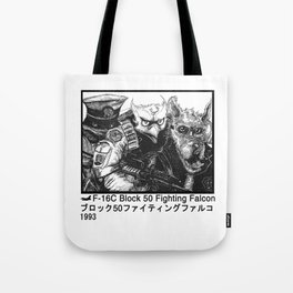 Falcon Flight W Tote Bag