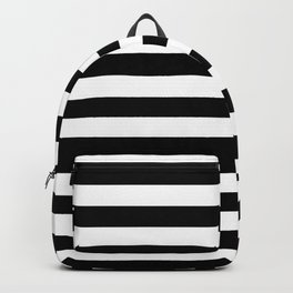 Abstract Black and White Stripe Lines 10 Backpack