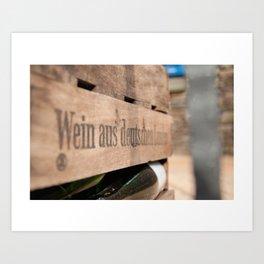 Deutscher Wein. Art Print