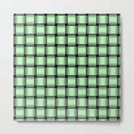 Small Light Green Weave Metal Print