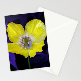 Yellow Welsh poppy Stationery Cards