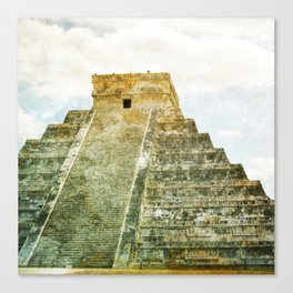 Chichen Itza pyramid Canvas Print