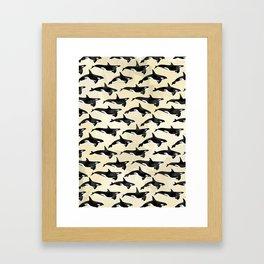 Pod of Orcas in Puget Framed Art Print