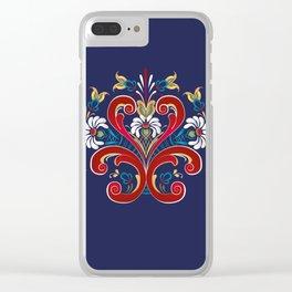 Scandinavian Rosemaling II Clear iPhone Case