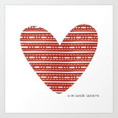 CORAZON (rojo) Art Print