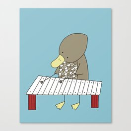 Duck Playing the Xylophone Canvas Print