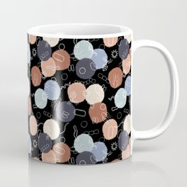 Vintage Microbiology - Black Outlines on Black Coffee Mug
