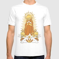 Holy Peach Day of the Dead Tribute MEDIUM White Mens Fitted Tee