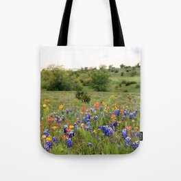 Bluebonnets, Indian Paintbrushes & Wildflowers Tote Bag
