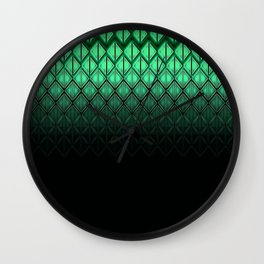 Future Scales Green Wall Clock