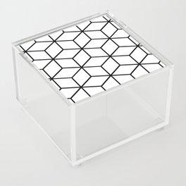 Black and White - Geometric Cube Design I Acrylic Box