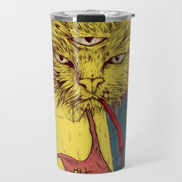 Third eye cat Travel Mug