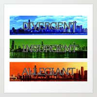 divergent Art Prints featuring Divergent by All Things M