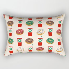 Coffee donuts foodie brunch breakfast desserts coffee lovers gifts Rectangular Pillow
