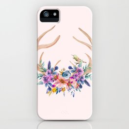 Antlers with Flowers iPhone Case