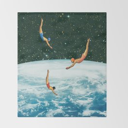 Space jumps Throw Blanket