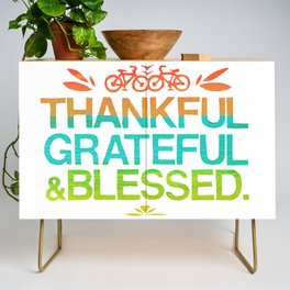 Thankful, Grateful & Blessed 2 Credenza
