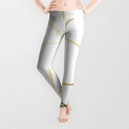 Gold Metallic Nodes Leggings