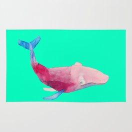 Whale in green Rug