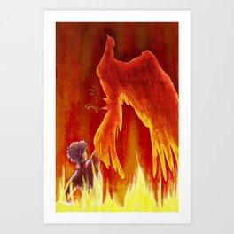setting fire to the sky Art Print
