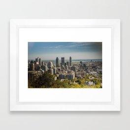Montreal Skyline Light Framed Art Print