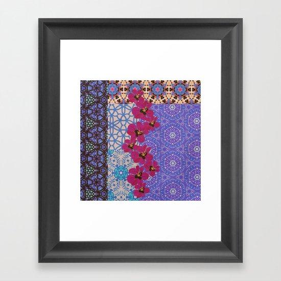 Blue Floral Framed Art Print
