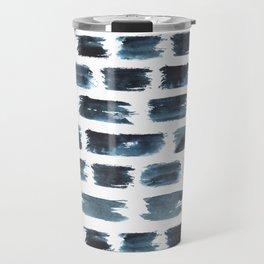 Indigo brushstrokes Travel Mug