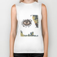 third eye Biker Tanks featuring Third Eye  by CUTS