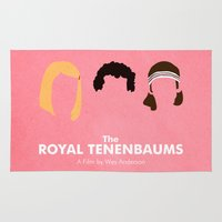 the royal tenenbaums Area & Throw Rugs featuring The Royal Tenenbaums by Chay Lazaro
