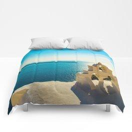 Church in Oia,Santorini Comforters