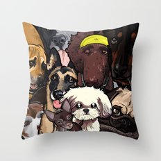 Dogs. Throw Pillow
