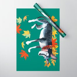 September Angel Turquoise Wrapping Paper