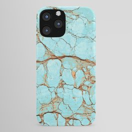 Cracked Turquoise & Rust iPhone Case